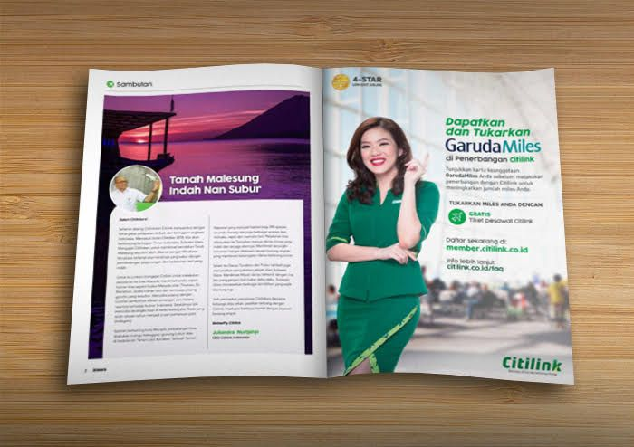 INSIDE FRONT/BACK COVER MAGAZINE CITILINK AIR