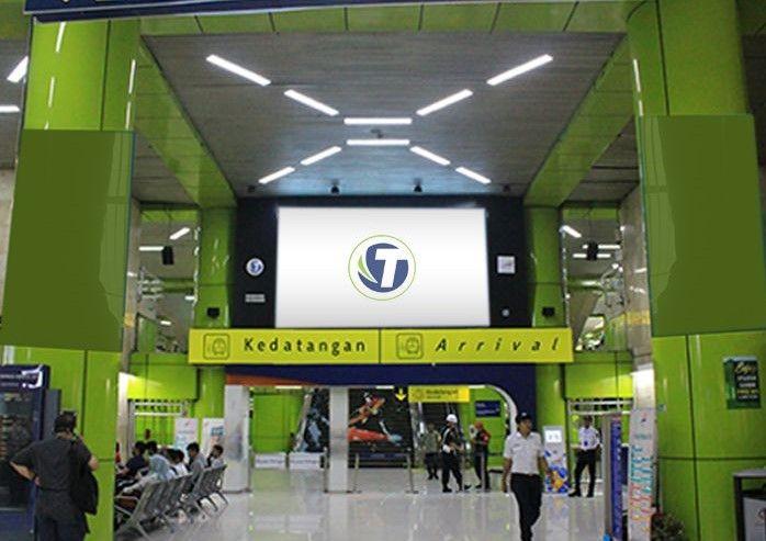 LED GAMBIR TRAIN STATION JAKARTA